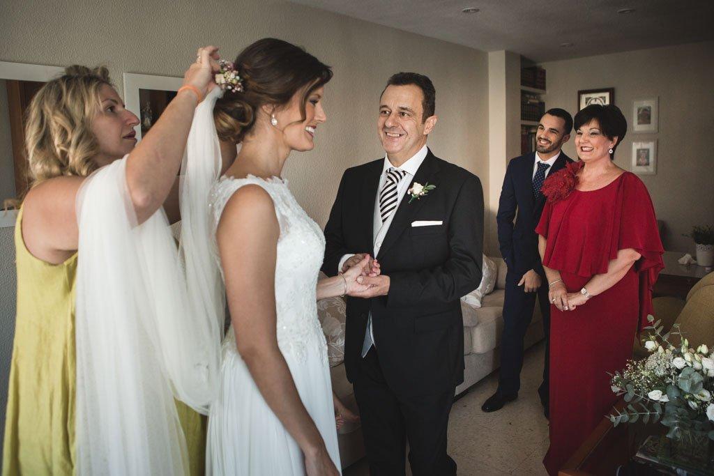 Boda Alcazar y La Bodega, momentos novia familiares