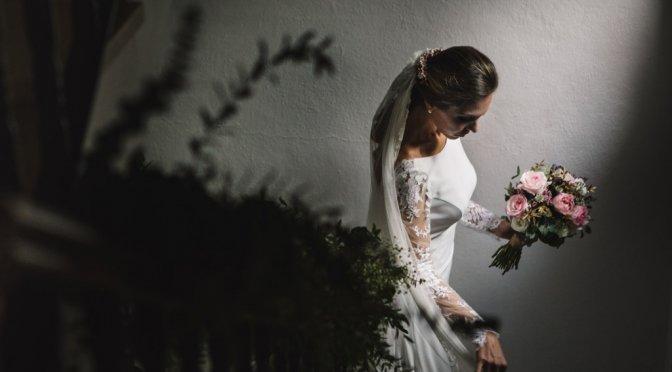 Boda en San Nicolas y El Capricho, retrato novia