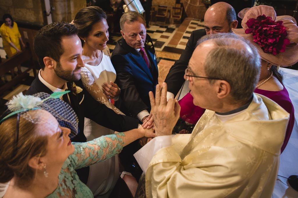 Boda en San Nicolas y El Capricho, ceremonia