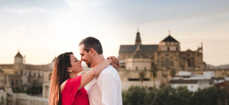 Sesión de compromiso en Córdoba, panoramica desde La Calahorra