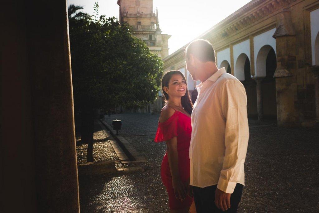 Sesión de compromiso en Córdoba, mirada